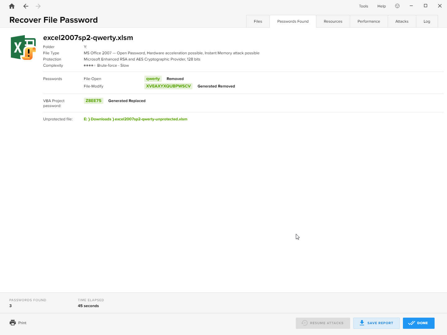 Passware Kit Recover File Password Screenshot