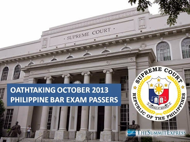 Oathtaking October 2013 bar exam exam passers moved
