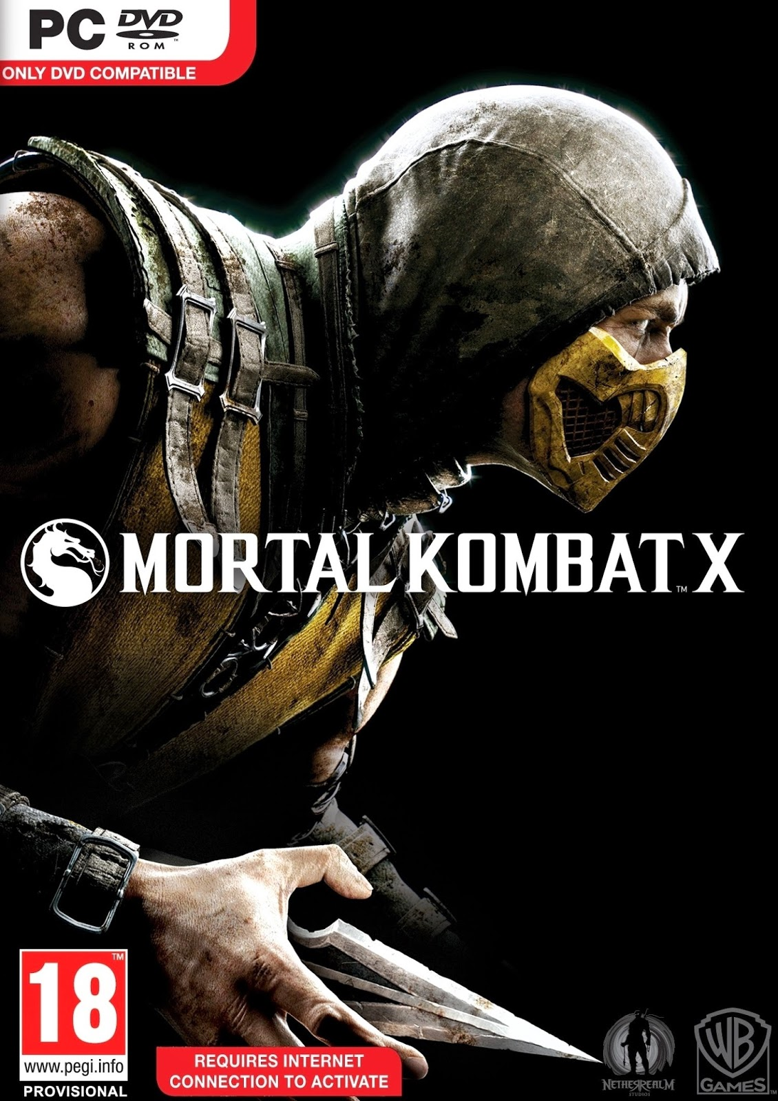 Mortal Kombat X ESPAÑOL PC Full Cover Caratula