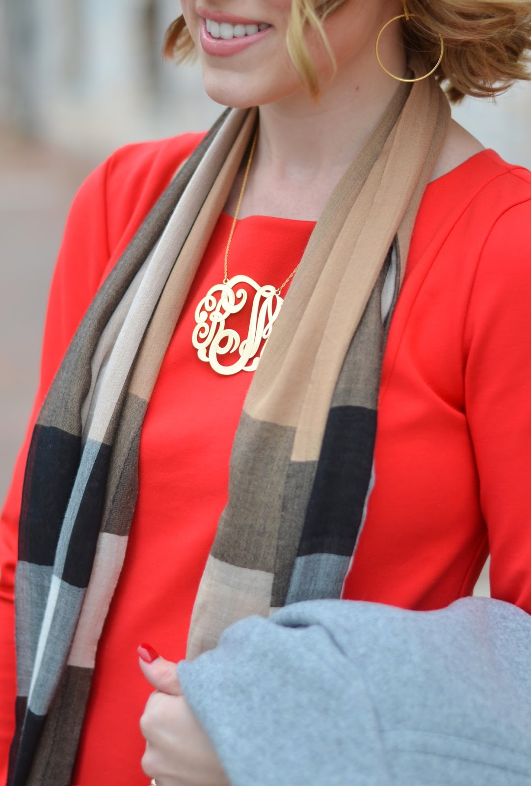 Large Monogram Necklace - Something Delightful Blog