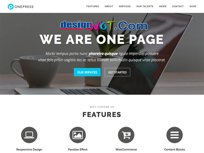 OnePress WordPress One Page Theme