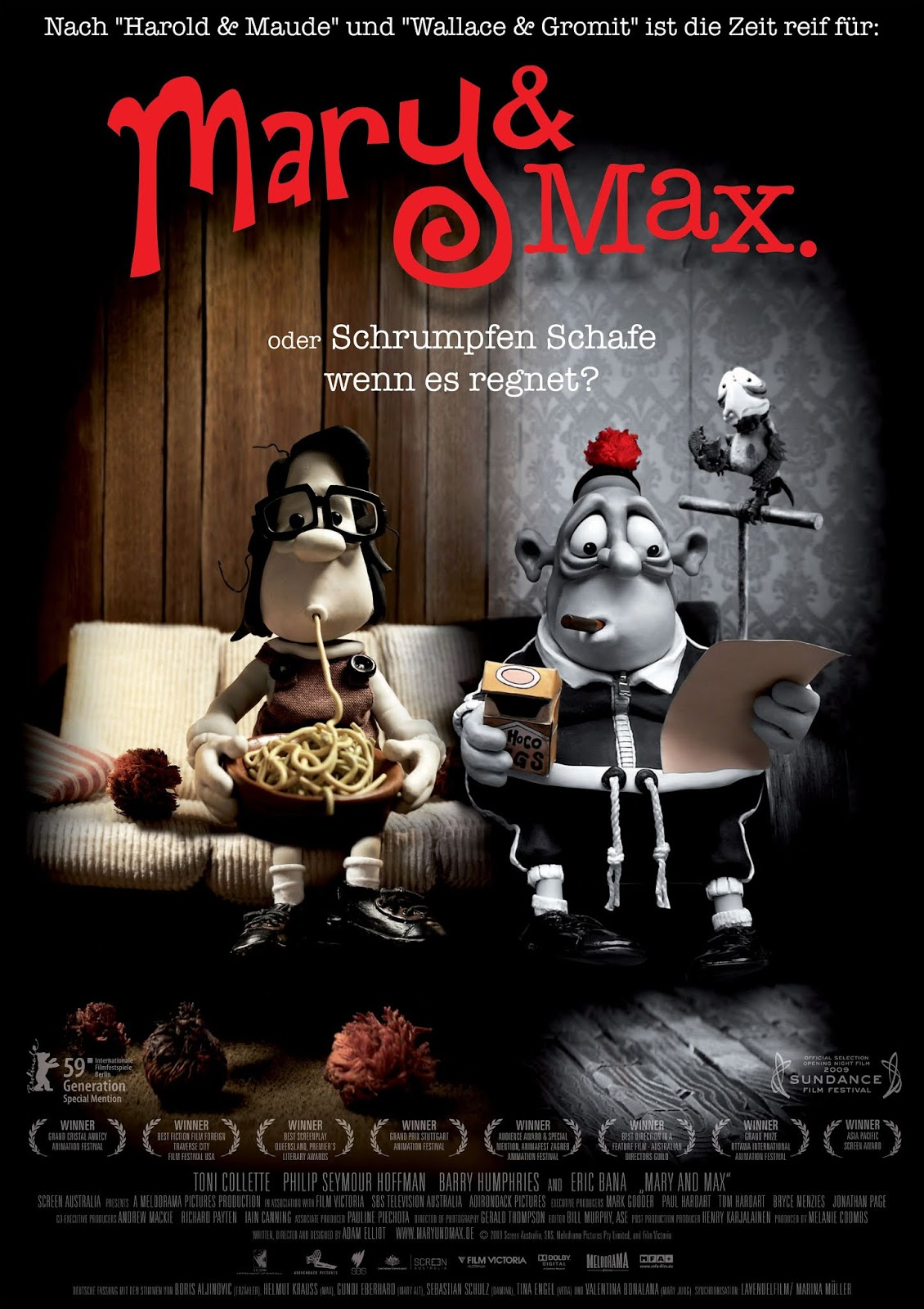 Noah Greenhalgh Computer Animation Arts Uca Film Review Mary And Max 2009