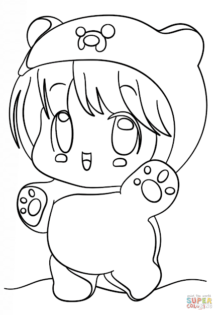 Kawaii Chibi Finn Coloring Page Free Printable Coloring Pages