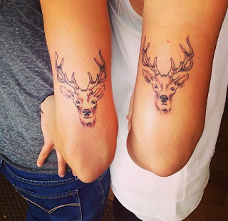 tatuaje amigas ciervo