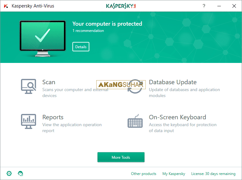Kaspersky Anti-Virus 2017 17.0.0.611 Final Terbaru