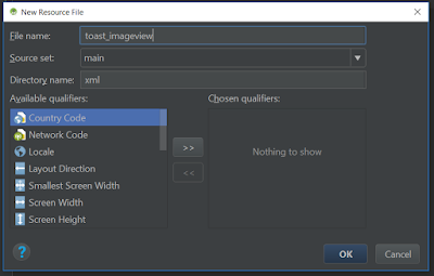 Android Studio - Toast Custom ImageButton