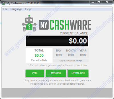 Running my cashware software - step 2