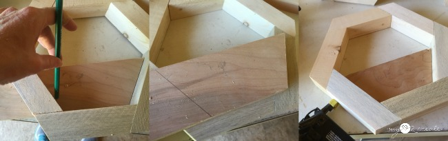 cutting out plywood planter front