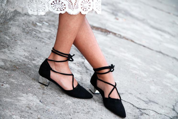 ballet shoes midi heels