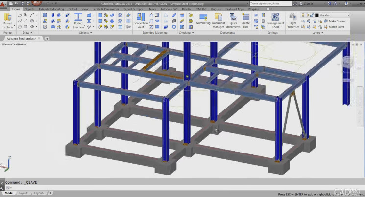 Creating Sample Drawing from Autodesk Advance Steel Advance%2BSteel%2Bsample%2Btuto