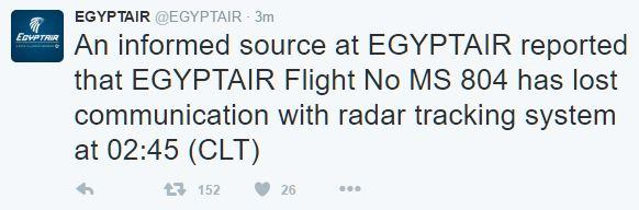 EgyptAir flight MS804 Missing