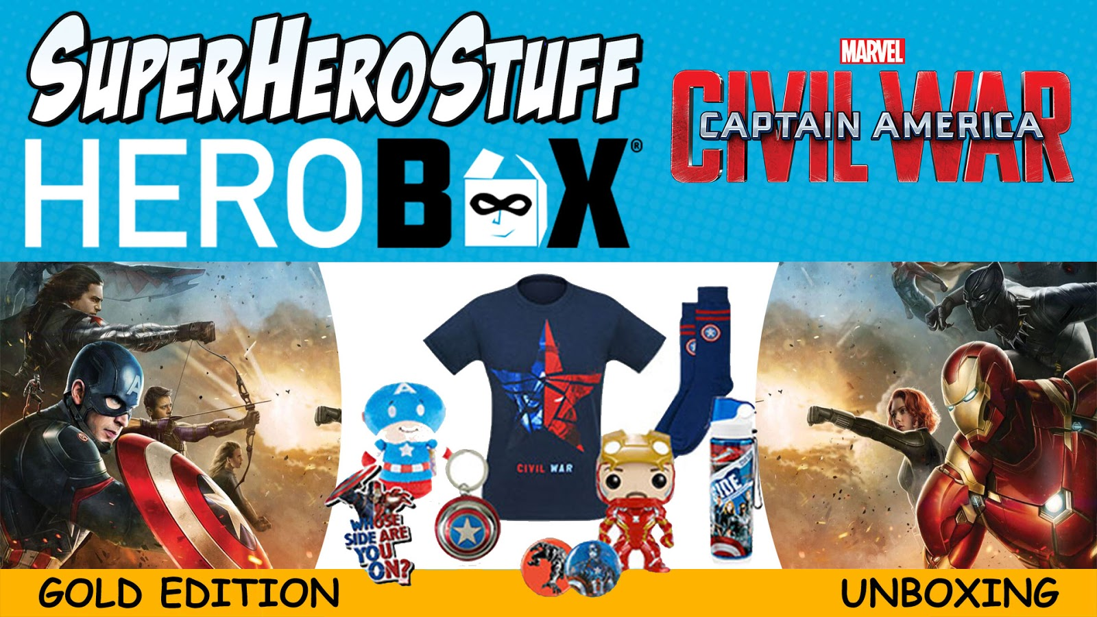 HeroBox Gold Edition Unboxing SuperHeroStuff