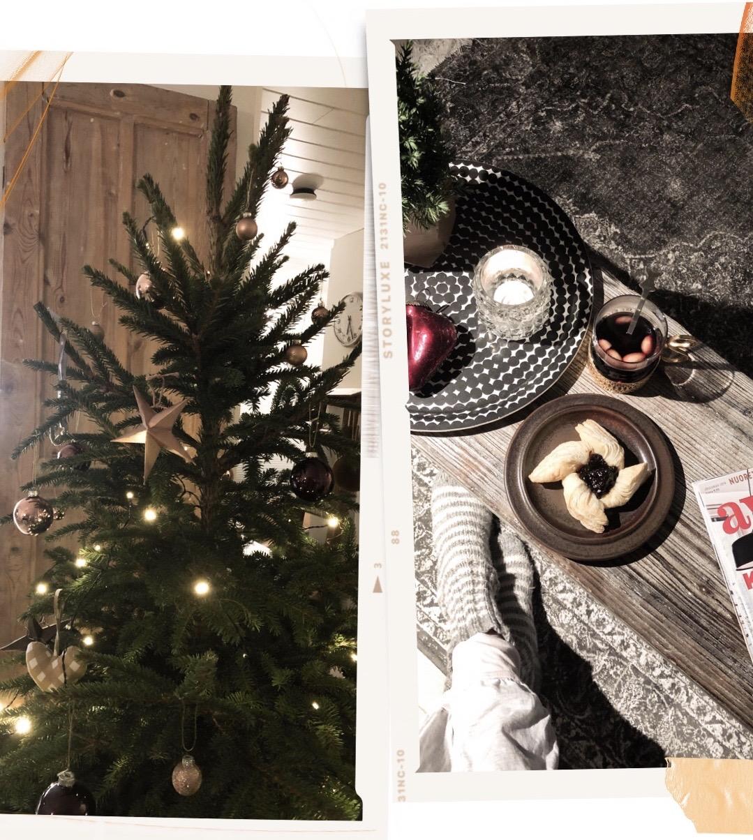 Christmas tree and treats - Joulukuusi, glögi ja joulutorttu