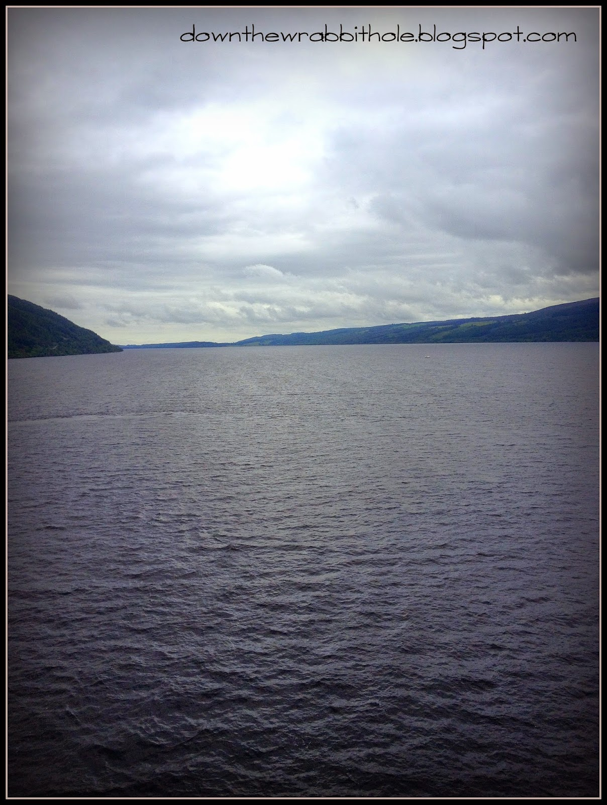 waters of Loch Ness, gloomy day at Loch Ness
