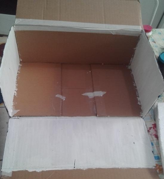 Pinte toda a caixa com a tinta branca