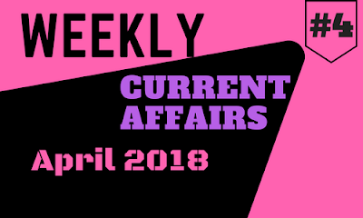 Weekly One Liners April 2018 : Week IV