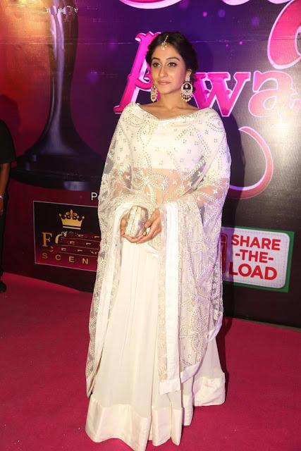 Regina Cassandra Smashing in Prathyusha Garimella White Plain Lehenga Choli