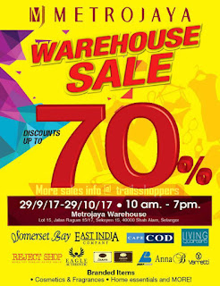 Metrojaya Warehouse Sale 2017