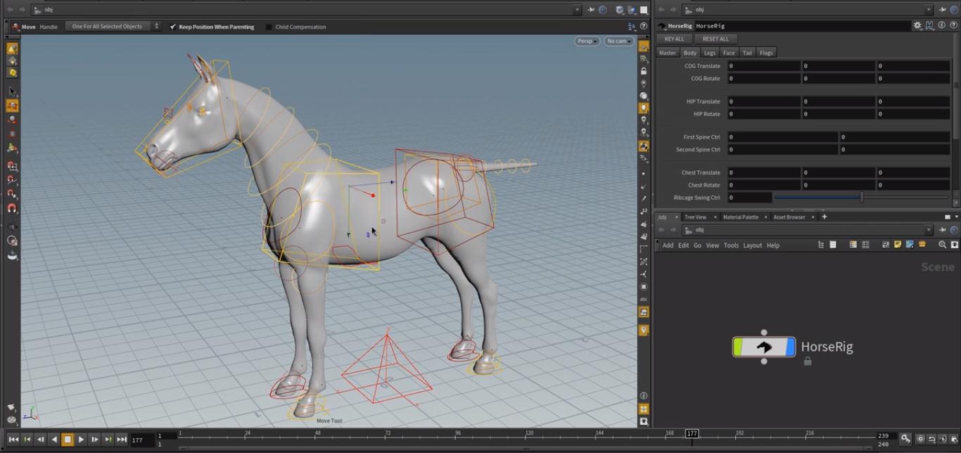 Horse Rigging in Houdini | CG TUTORIAL