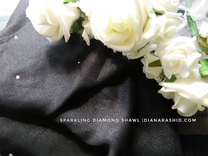SHAWL PALING SENANG DIBENTUK: SPARKLING DIAMOND SHAWL BY ZHAFRA