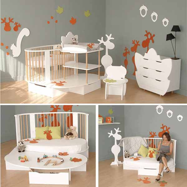 Dormitorios para bebes varones for Decoracion pared bebes