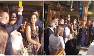 Νύφη στην Πάργα πάτησε τον γαμπρό και αυτός της έβγαλε κίτρινη κάρτα