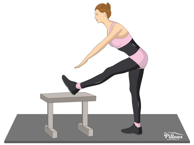 18 Easy Stretches In 18 Minutes To Help Reduce Back Pain - STANDING HAMSTRING STRETCH