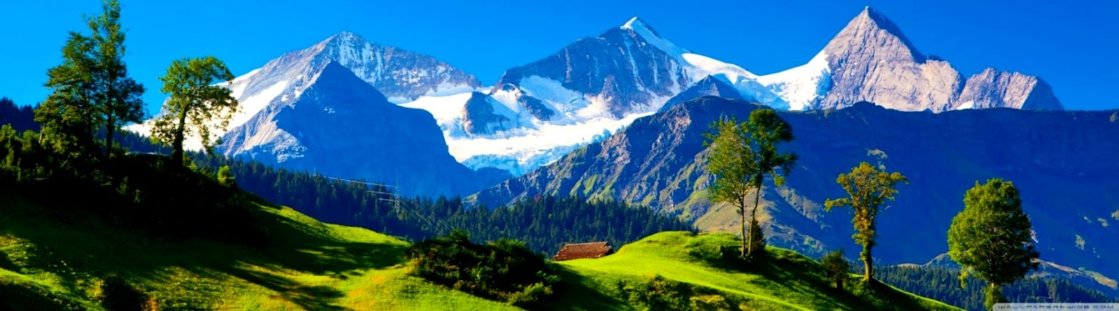 Alps Mountains Dual Monitor Hd Wallpapers Themes