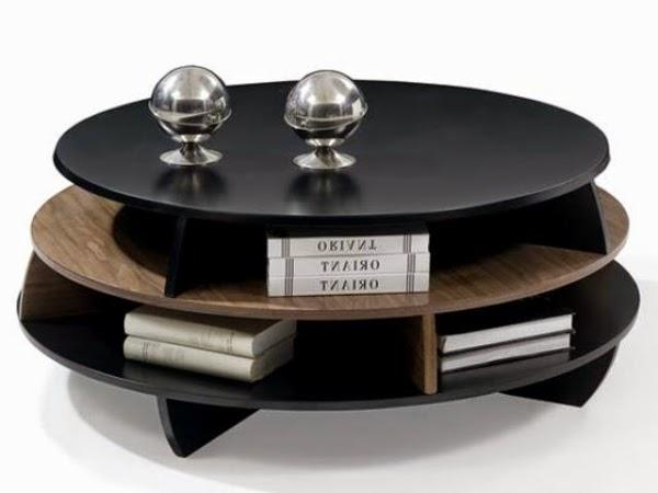 Creative Black Wood Coffee Table With Storage