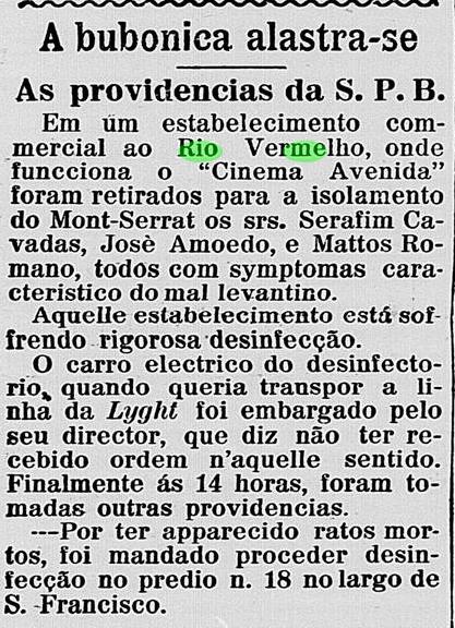 Cinema Avenida no Rio Vermelho passa por desinfecção de bubonica