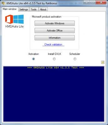 Screenshot KMSAuto Lite 1.3.5.1 Portable by Ratiborus