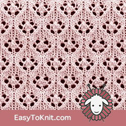 Eyelet Lace 48: Elfin | Easy to knit #knittingetitches #eyeletlace