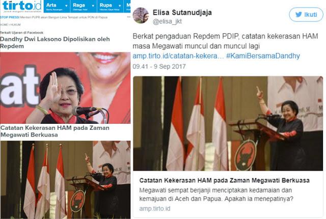 Berkat Pengaduan Repdem PDIP, Catatan Kekerasan HAM Era Megawati Muncul