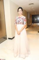 Ritu Varma smiling face Cream Anarkali dress at launch of OPPO New Selfie Camera F3 ~  Exclusive 051.JPG