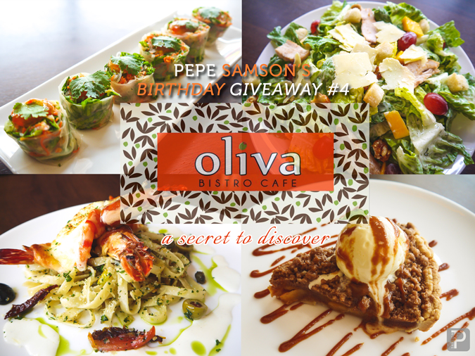 Pepe's Birthday Giveaway #4: Oliva Bistro Café Is a Secret Waiting to Be Discovered