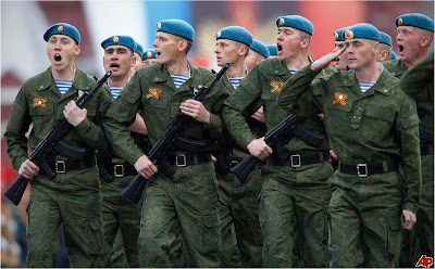 Russian Paratroopers parade in Red Square May 9, 2011 Victory Day