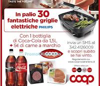 Logo Coca-Cola e Coop ti regalano le griglie elettriche Philips