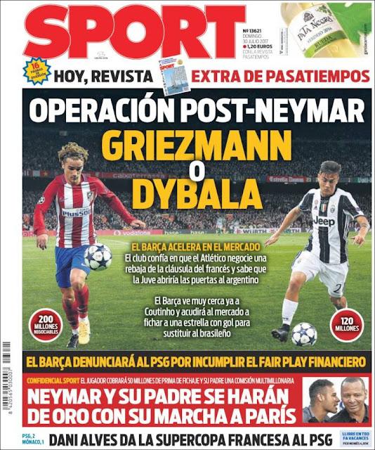 Griezmann y Dybala ya suenen para el Barça