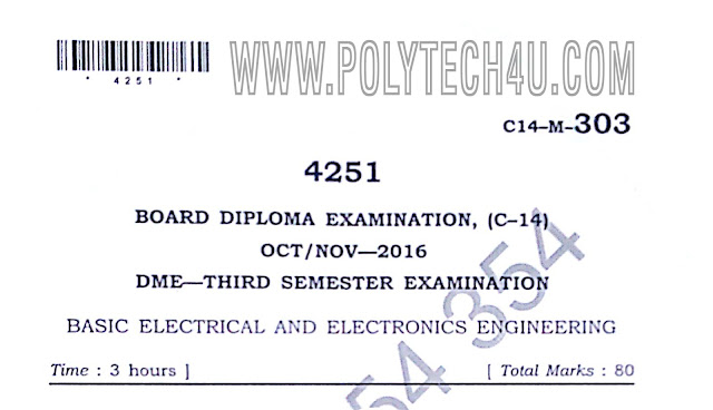 MECHANICAL ENGINEERING BASIC ELECTRICAL AND ELECTRONICS ENGINEERING PREVIOUS QUESTION PAPER
