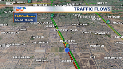 bakersfield highway 99 multi-vehicle accident panama lane