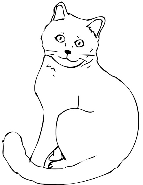 Mewarnai Gambar Hewan Kitty Kucing Lucu Aneka Mewarnai
