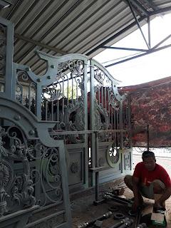 Pembuatan Pintu, Pagar, Besi Tempa, Klasik, untuk di Bali