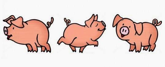 Fripouilles et gribouilles collage les trois petits cochons - Dessin anime les 3 petit cochons ...