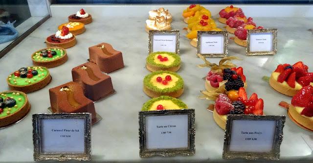 Swiss fruit tarts chocolate pastries