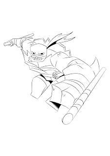 desenho para colorir e imprimir Rafael rise of the teenage mutante ninja turtles