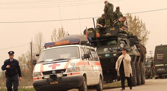 """Повређени припадници тзв """"Косовске полиције"""" током претреса просторија Црвеног крста"""