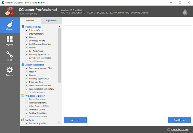 user interface ccleaner
