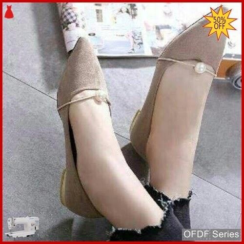 OFDF192 Sepatu Flat Cantik Elsana Pearl Mocca BMGShop