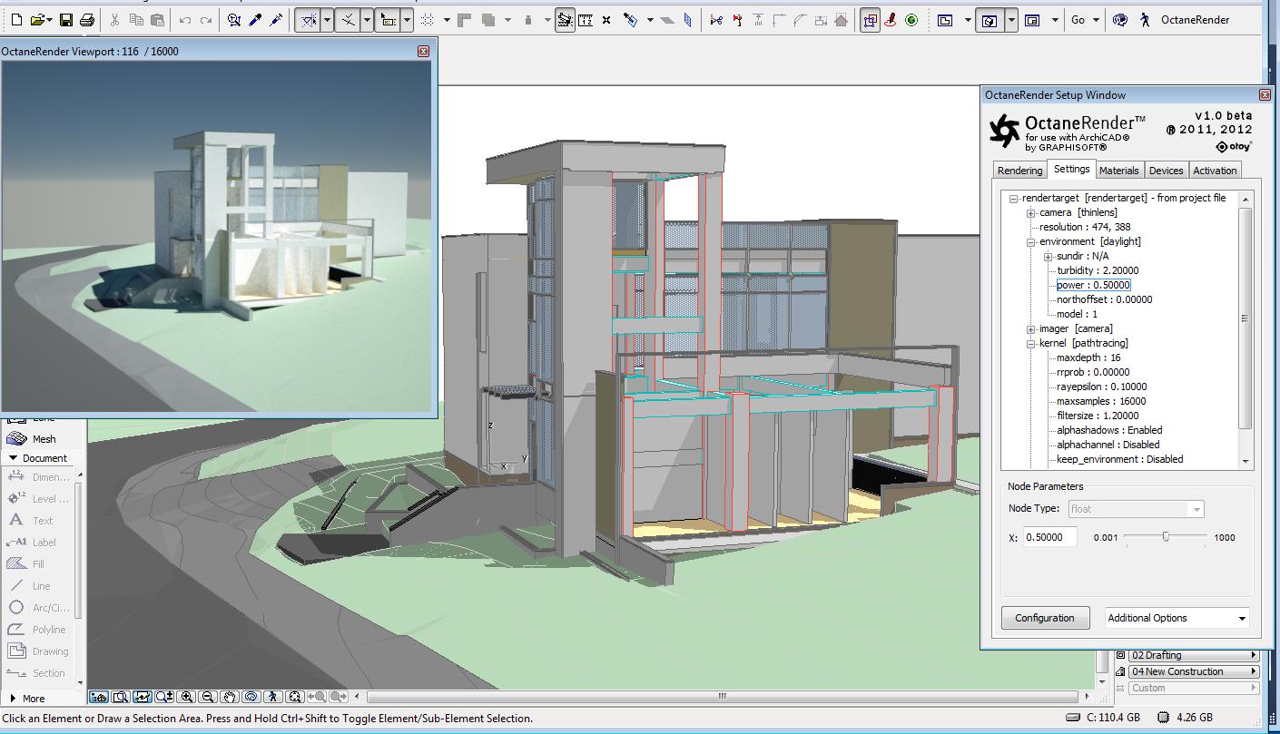 physicalc software blog octanerender for archicad nearing. Black Bedroom Furniture Sets. Home Design Ideas
