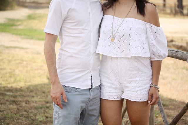Outfit in coppia: in bianco per l'estate